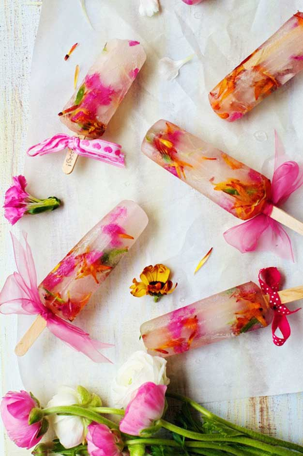 Petal Ice lollies for weddings