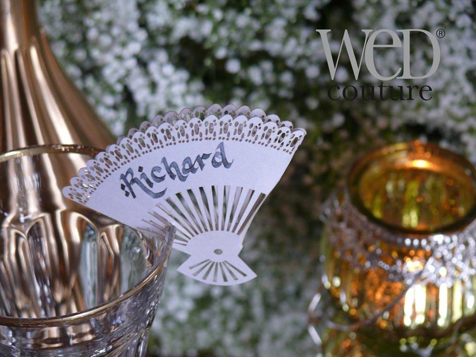 Fan Shape Wedding Place Card Wedding Decoration Italian Weddings